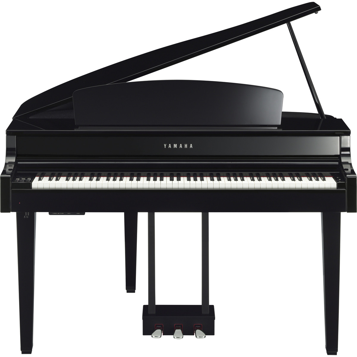 Yamaha clp565 grand piano polished ebony at for Price of a yamaha baby grand piano