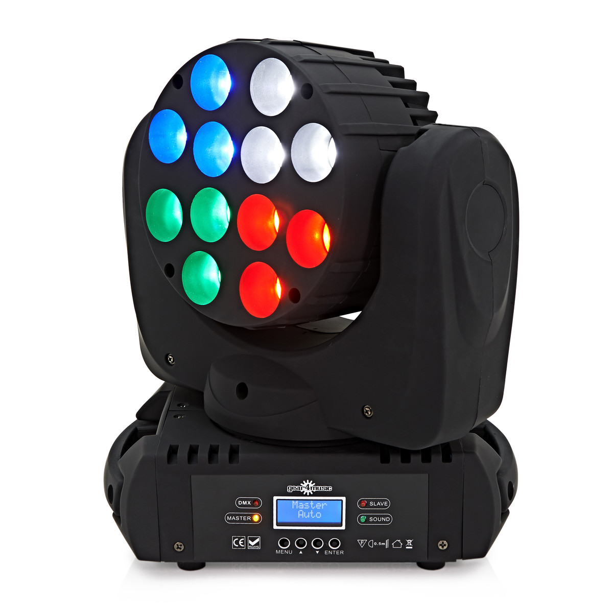 Image of 12 x 10w LED Moving Head Light by Gear4music