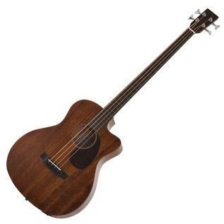 Sigma Fretless 4-String Electro Acoustic Bass, Natural