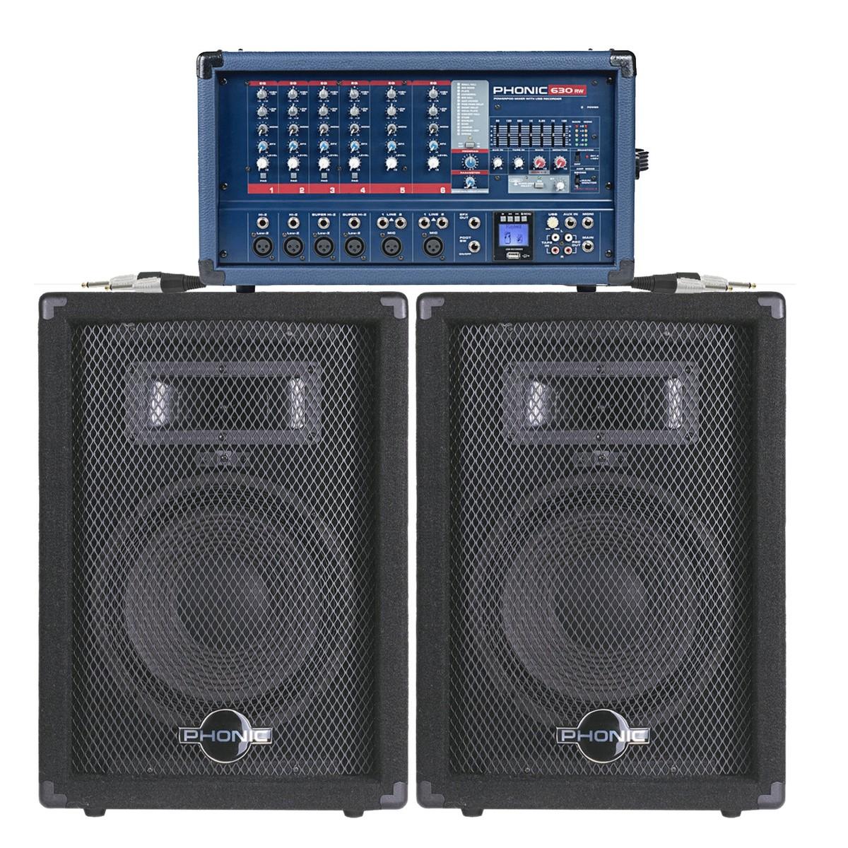 300w phonic pa system with fx mixer and speakers at. Black Bedroom Furniture Sets. Home Design Ideas