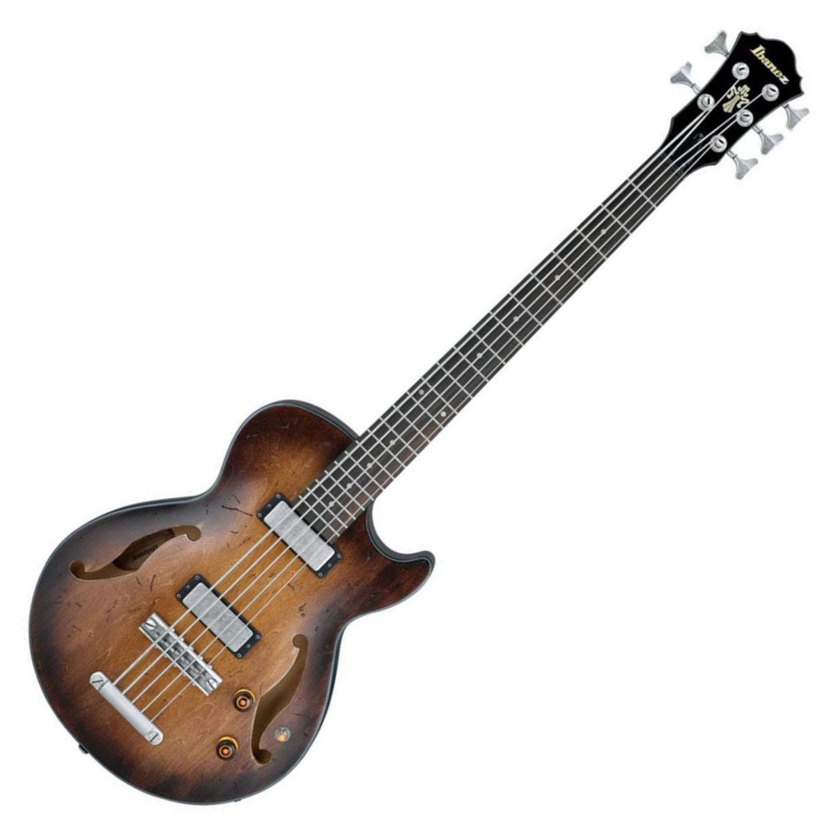 Cheap Ibanez AGBV205A Artcore Vintage 5-String Bass Guitar, Tobacco Burst