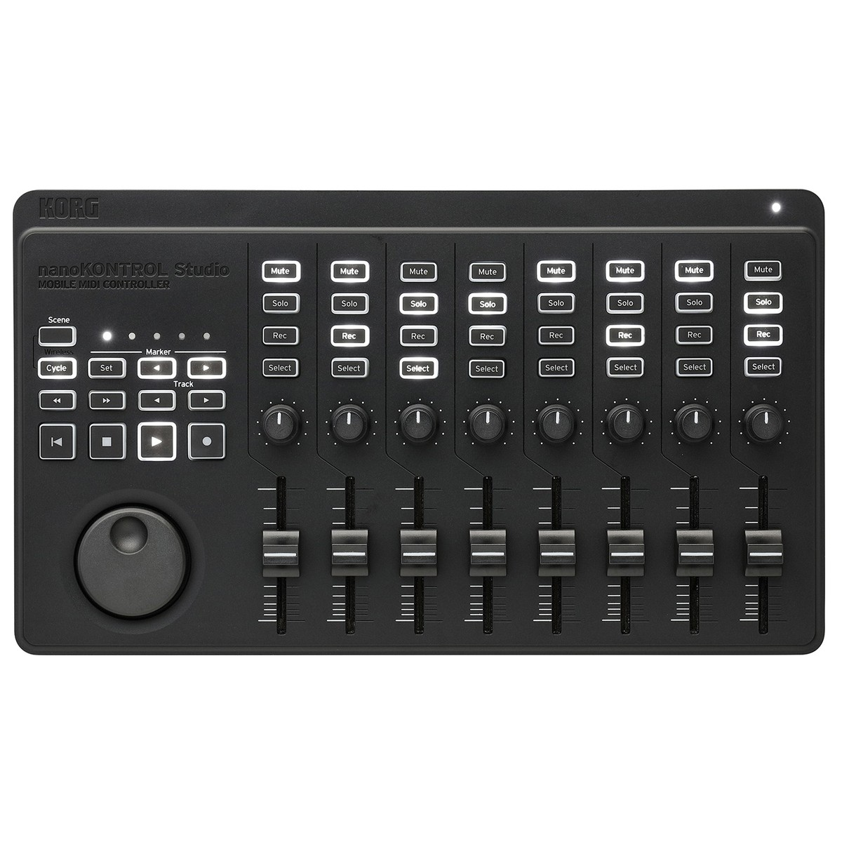 korg nanokontrol studio midi controller at. Black Bedroom Furniture Sets. Home Design Ideas