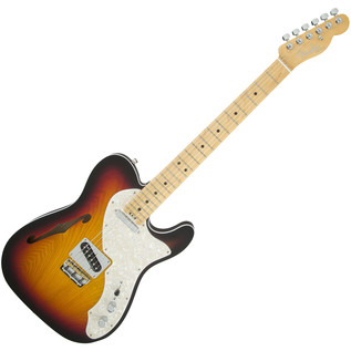Fender American Elite Thinline Telecaster, MN, 3-Color Sunburst