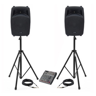 Phonic PA System with Active Speakers and Mixer