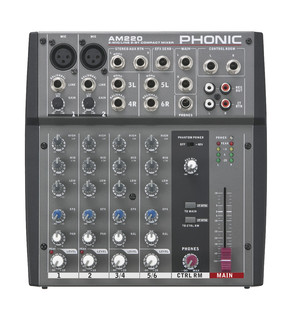 Phonic Jubi 15A PA System with Mixer, Stands and Cables