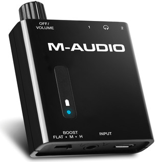M-Audio Bass Traveler Headphones Amp - Angled View