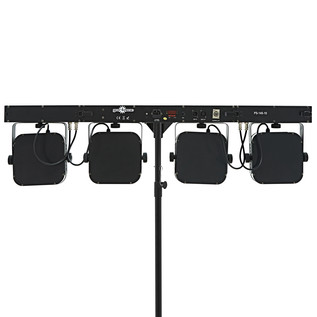 80w LED Par Set by Gear4music + Fog Machine