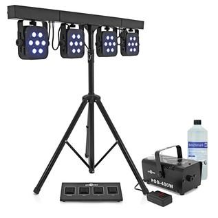350w LED Par Set by Gear4music + Fog Machine