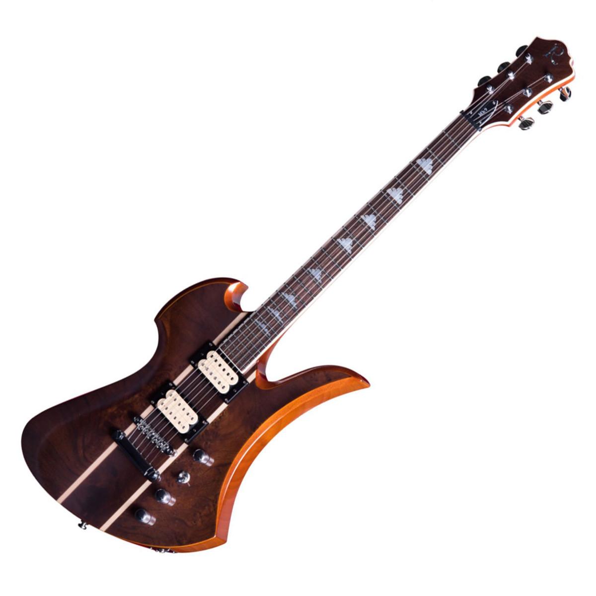 bc rich mockingbird mk9 guitar with hard case natural walnut burl at. Black Bedroom Furniture Sets. Home Design Ideas