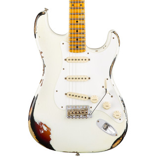 Fender Custom Shop Limited Heavy Relic Mischief Maker, White/Sunburst