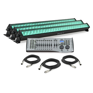 252 x 10mm LED Wall Wash Tri Pack by Gear4music