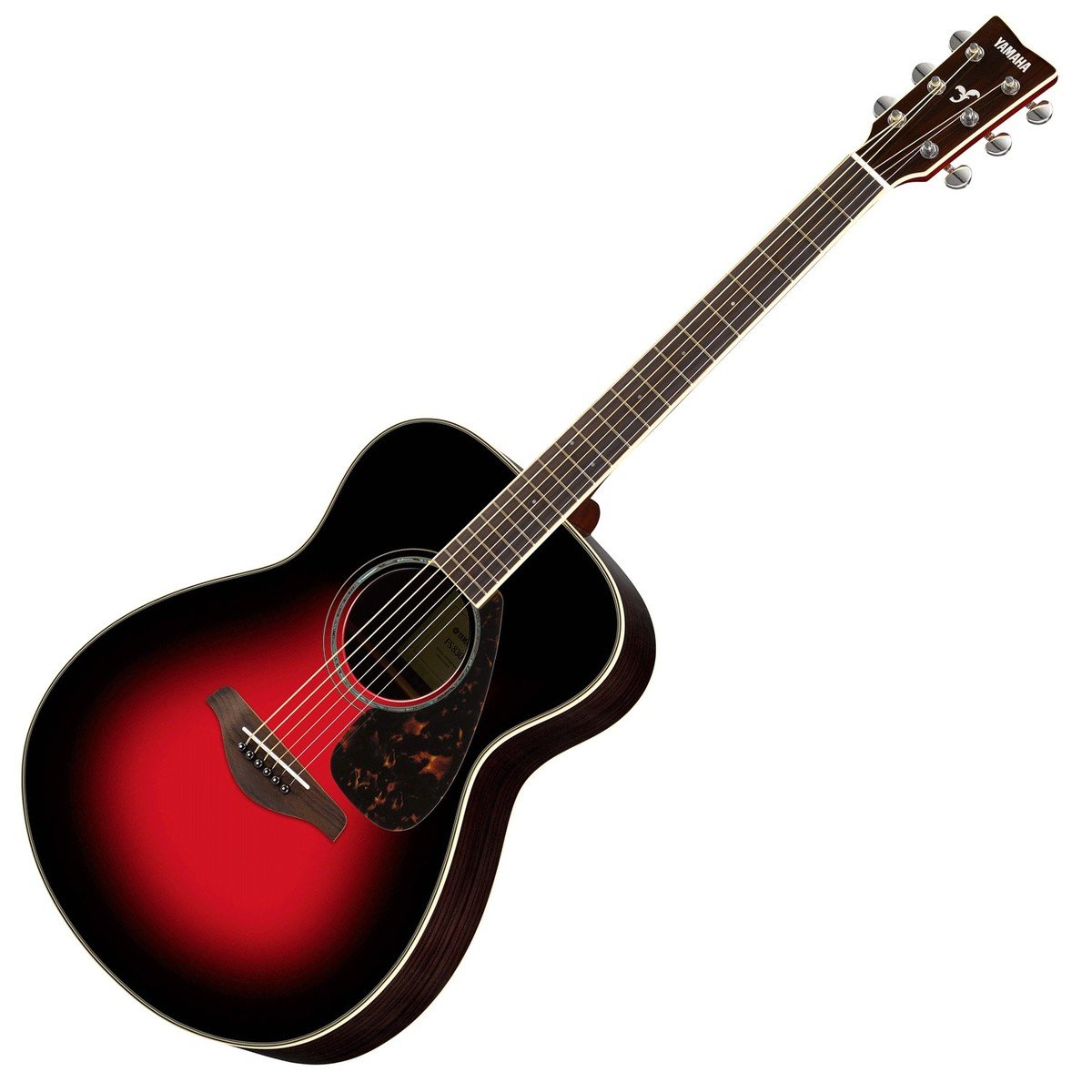 Yamaha fs830 acoustic guitar dusk sun red at for Yamaha acoustic bass guitar