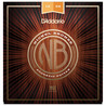D'Addario Nickel Bronze Guitar Strings Light Top Med Bottom, 12-56