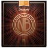 D'Addario nikkel bronse gitarstrenger lys øverst Med nederst, 12-56