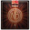 D'Addario Nickel Bronze guitare acoustique cordes Medium 13-56