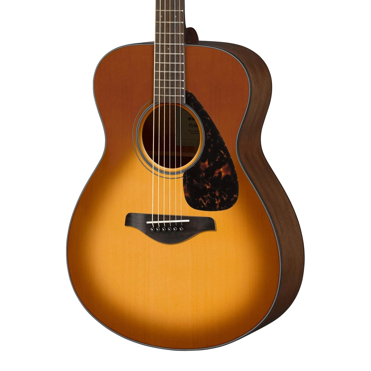 Yamaha fs800 acoustic guitar sandburst at for Yamaha acoustic bass guitar