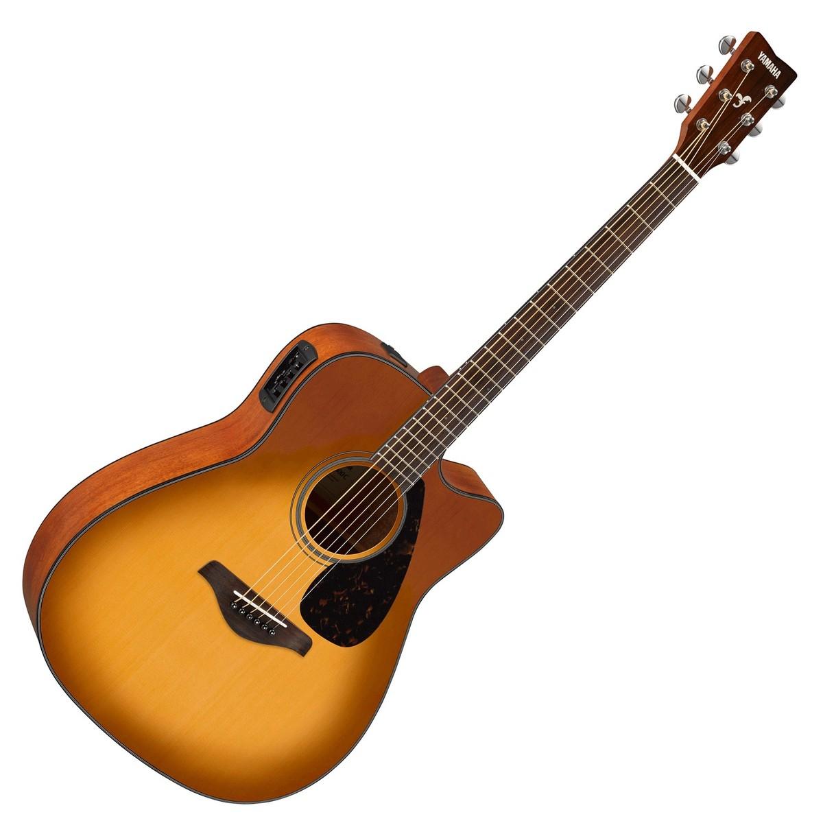 yamaha fgx800c electro acoustic guitar sandburst at