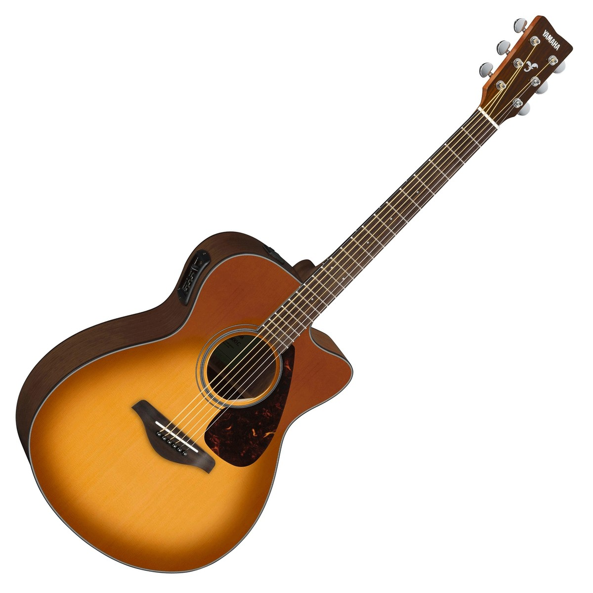 Yamaha fsx800c electro acoustic guitar sandburst at for Yamaha classic guitar