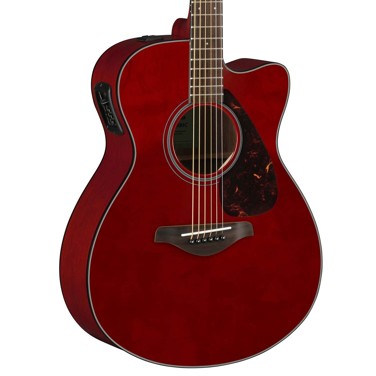 yamaha fsx800c electro acoustique guitare rouge rubis. Black Bedroom Furniture Sets. Home Design Ideas