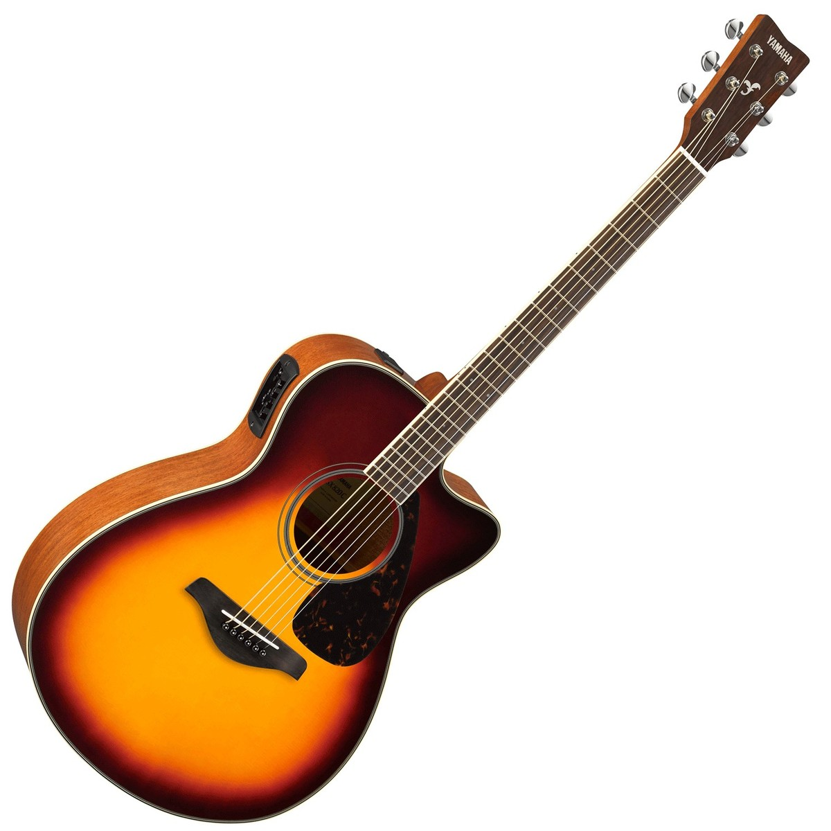 Yamaha fsx820c electro acoustic guitar brown sunburst at for Yamaha acoustic bass guitar