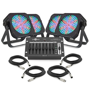 80w Flat LED Floor Set by Gear4music
