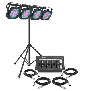 80w Flat LED Par Set by Gear4music