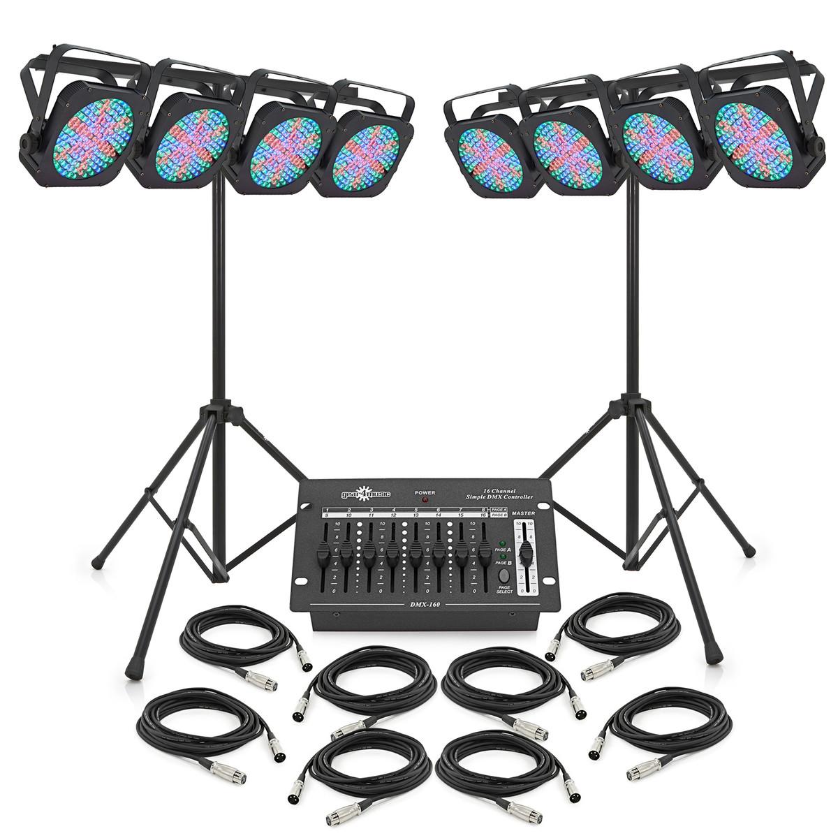 Image of 1152 x 10mm Flat LED Par Set by Gear4music