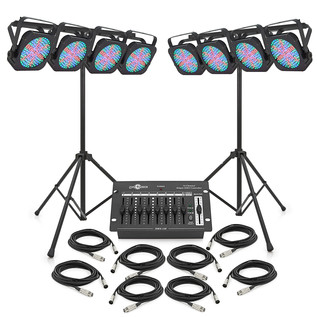 160w Flat LED Par Set by Gear4music