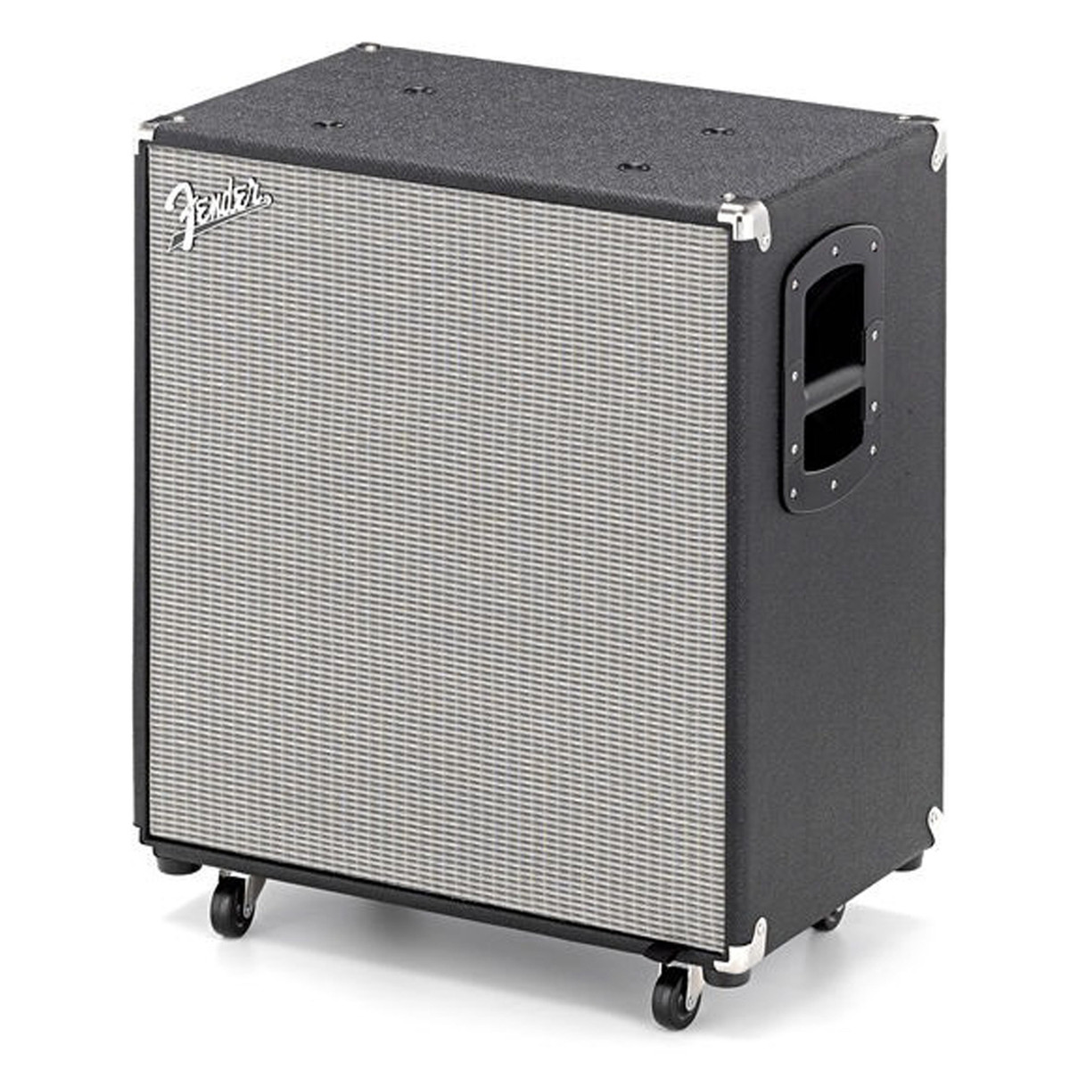 Fender rumble 410 bass cabinet black silver at for Black and silver cabinet
