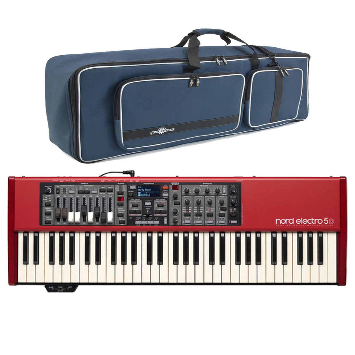 Image of Nord Electro 5D 61 Semi Weighted with Free Gear4music Deluxe Bag