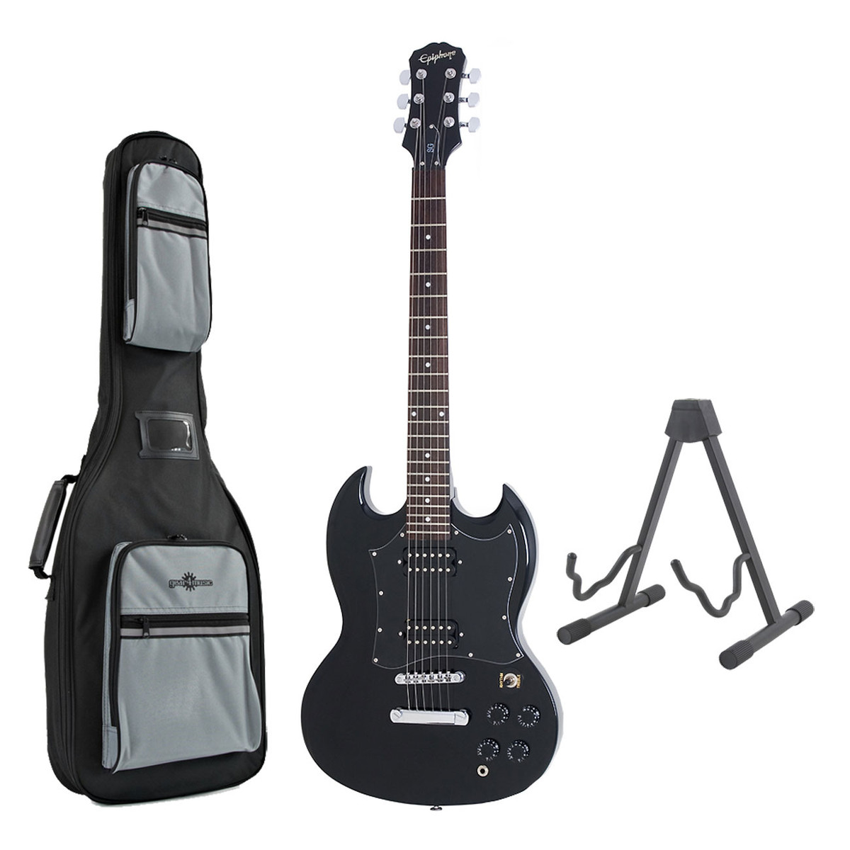 epiphone sg g 310 electric guitar ebony with free stand and bag at. Black Bedroom Furniture Sets. Home Design Ideas