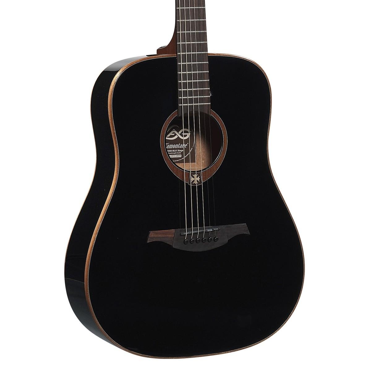 lag t100d dreadnought acoustic guitar black at. Black Bedroom Furniture Sets. Home Design Ideas