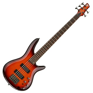 Ibanez SR375E-AWB 5-String Bass Guitar, Aged Whiskey Burst