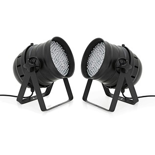 177 x 10mm LED Par Can Twin Pack by Gear4music