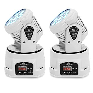 7 x 10w Mini LED Moving Head Light by Gear4music, White