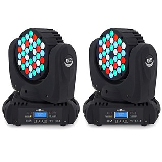 36 x 3 LED Moving Head Light Twin Pack by Gear4music