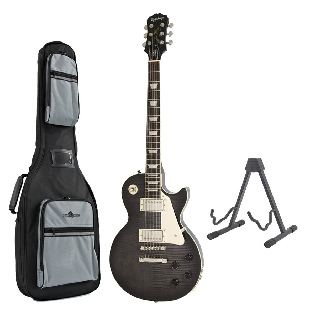 epiphone les paul ultra iii guitar midnight ebony with free stand. Black Bedroom Furniture Sets. Home Design Ideas