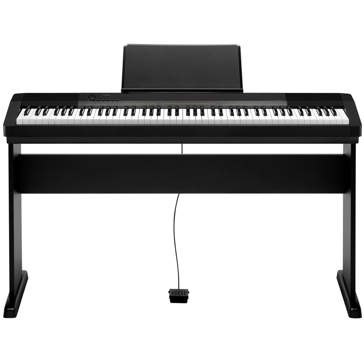 casio cdp 130 compact digital piano with stand bench and headphones at. Black Bedroom Furniture Sets. Home Design Ideas