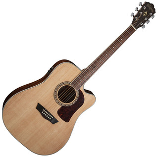 Washburn HD10SCE Electro Acoustic Dreadnought Guitar, Natural