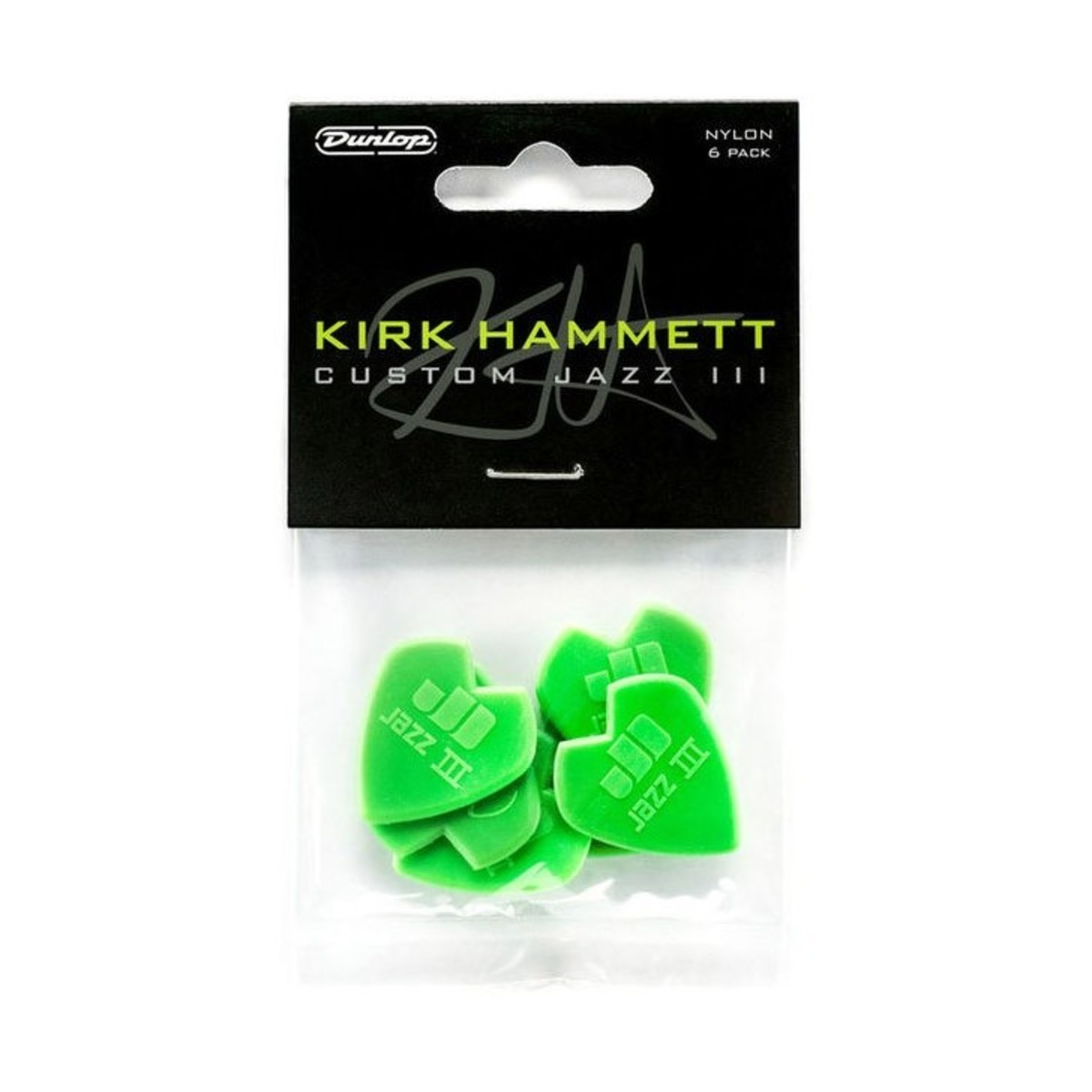 Image of Dunlop Kirk Hammett Custom Jazz III Picks Pack of 6