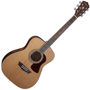 Washburn HF11S Folk Style Dreadnought Acoustic Guitar, Natural