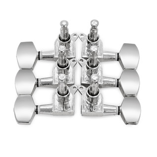 Electric Guitar Machine Head, 3-a-side, Chrome