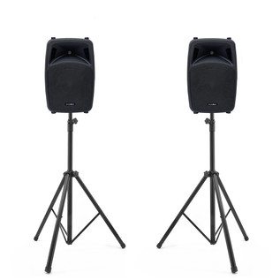 Phonic Jubi 12A 2-Way Active Loudspeakers and Stands