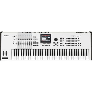 Yamaha MOTIF XF7 Keyboard Workstation, Limited Edition White