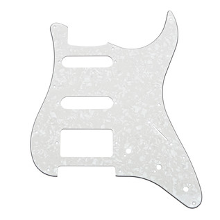 11-Hole HSS Scratchplate, White Pearloid