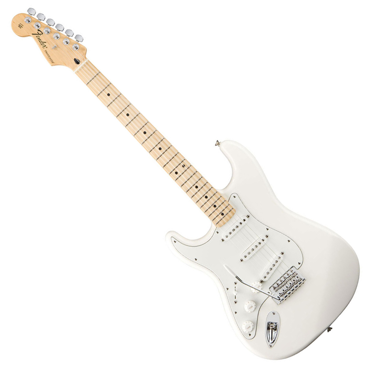 fender standard stratocaster lh electric guitar mn arctic white at. Black Bedroom Furniture Sets. Home Design Ideas