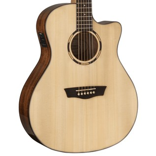 Washburn WLO10SCE Electro Acoustic Orchestra Guitar, Natural