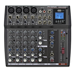 Phonic AM440DP Analog Mixer With DFX And USB Playback