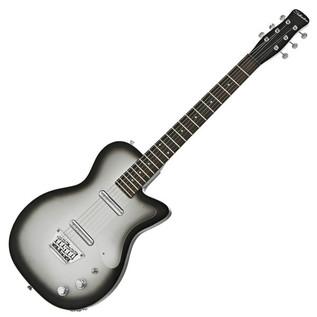 Silvertone 1303/U2 Electric Guitar + SubZero Tube20R Amp Pack, Silver