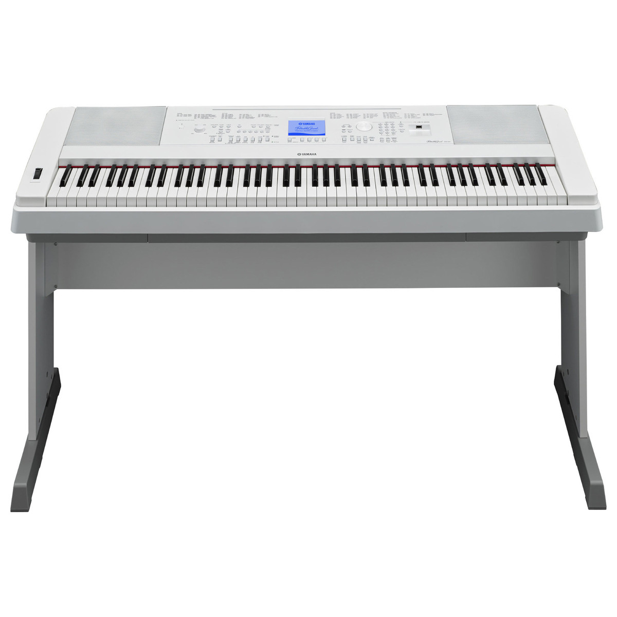 yamaha dgx660 digital piano with stand white at